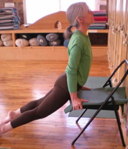 Urdhva Mukha Svanasana on chair